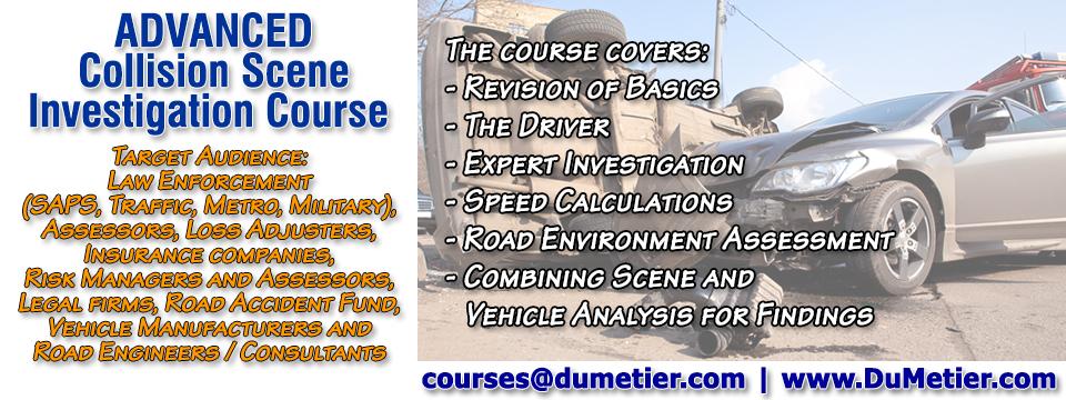 Advanced Collision Scene Investigation Course