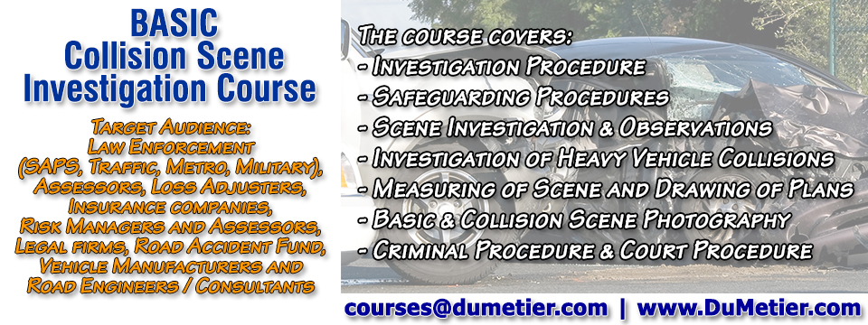 Basic Collision Scene Investigation Course
